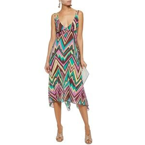 Missoni Asymmetric Printed Cotton-Poplin Dress